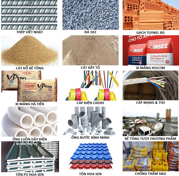 Chọn vật liệu xây dựng trong xây dựng phần thô