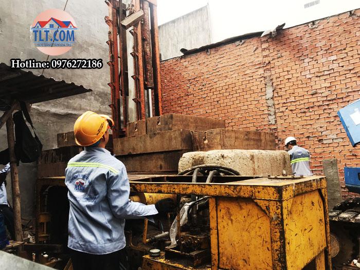 Ép cọc công trình nhà anh Hiếu – Bình Tân