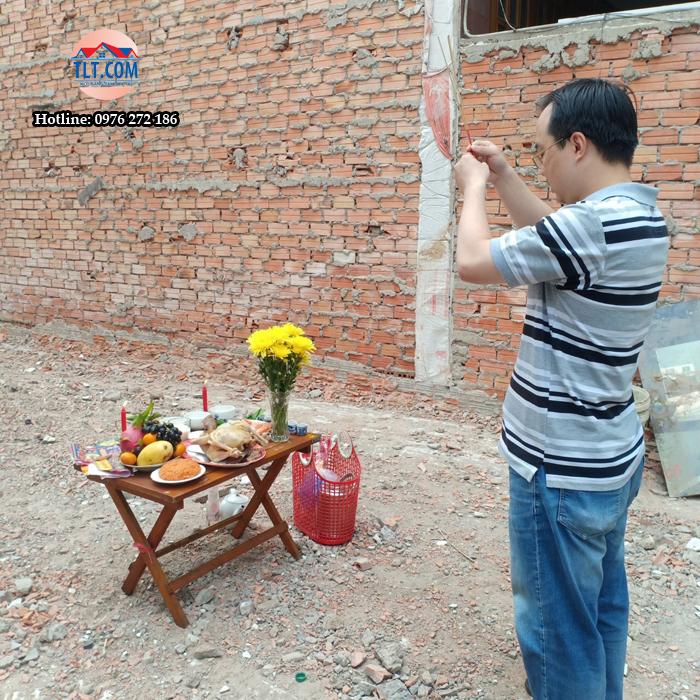 Khởi công xây dựng công trình nhà anh Nguyễn Hữu Tiến – quận Gò Vấp