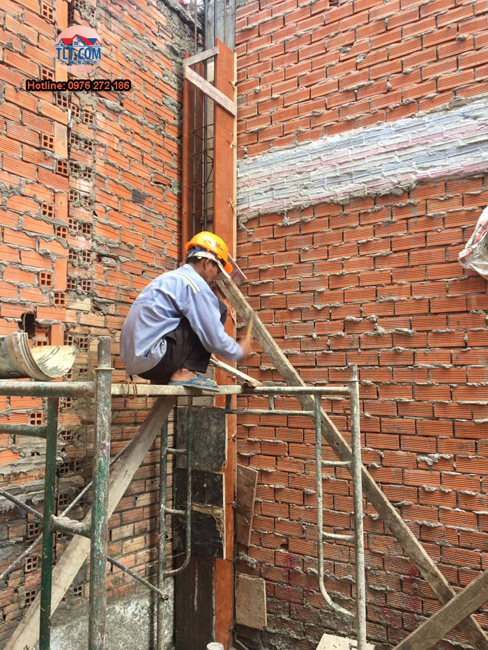 Công trình xây dựng nhà anh Lộc – Bình Tân