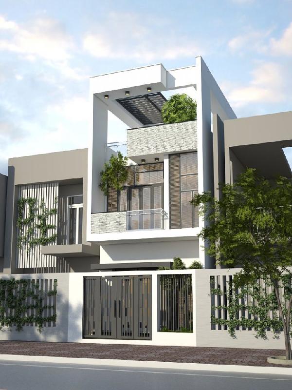 Mẫu nhà 2 tầng 4 phòng ngủ đẹp và hiện đại – chi phí xây dựng thấp