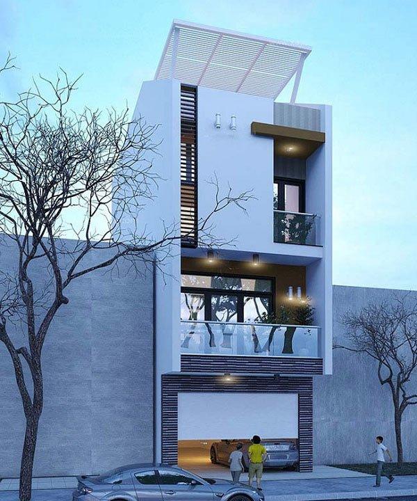 Những mẫu thiết kế nhà ống 4 tầng đẹp phong cách hiện đại – Phần 1