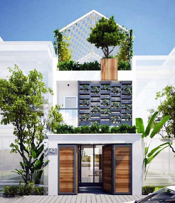 Xu hướng xây dựng nhà 1 trệt 1 lầu 1 tum 2021